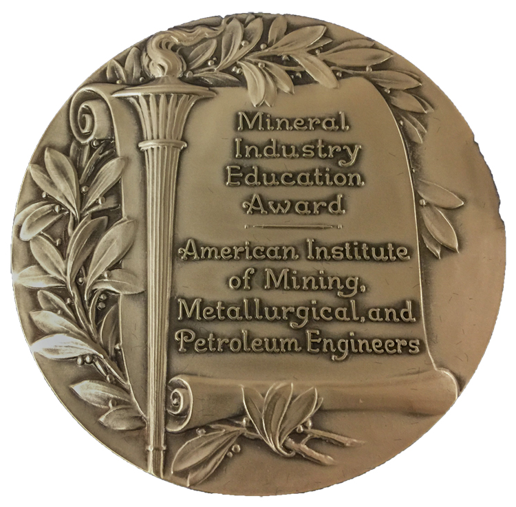 AIME Mineral Industry Education Award